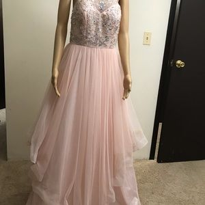 Party formal peach dress